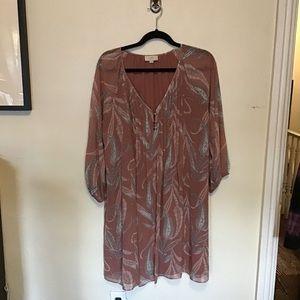 Loft paisley print boho dress